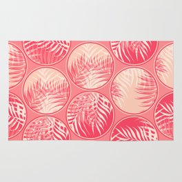 Pink Tropical Coins #society6 #decor #buyart Rug