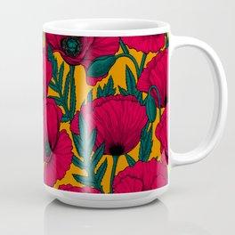 Red poppy garden Coffee Mug
