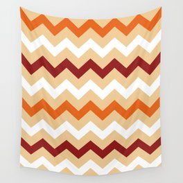Colorful Chevron pattern in Boho Style / Old Fashion. Wall Tapestry