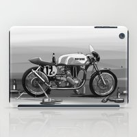 cafe racer iPad Cases featuring Beer Savage Vintage Norton Cafe Racer by TCORNELIUS