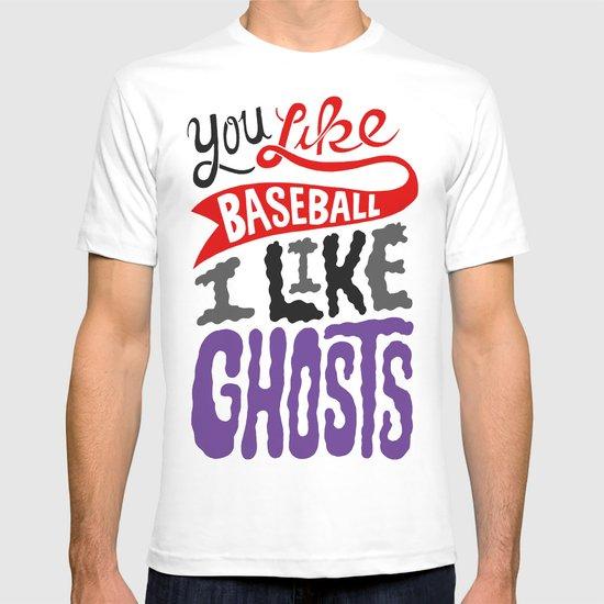 Baseball, Ghosts T-shirt