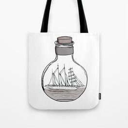 The Ship in the Bulb Tote Bag