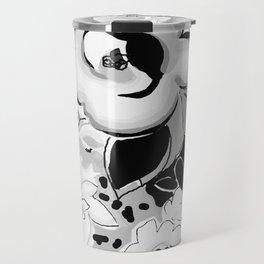 Dufy Black and White Travel Mug