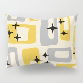 Retro Mid Century Modern Abstract Pattern 226 Yellow and Gray Pillow Sham