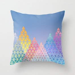Geometric Mountains Throw Pillow