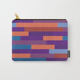 Colorful Wood Layout Geometric Patterns Carry-All Pouch
