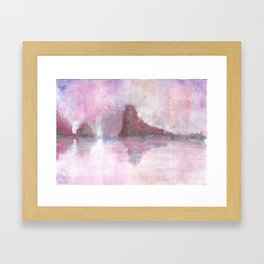 Abstract Red Landscape Framed Art Print
