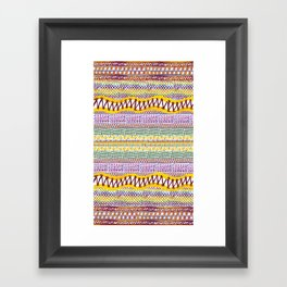 Connecting Stitches Framed Art Print