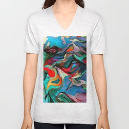 Blue See Bird Unisex V-Neck