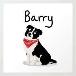 "Custom Cute Dog Art ""Barry"" Art Print"