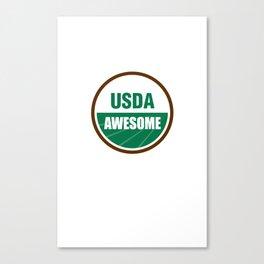 USDA AWESOME Canvas Print