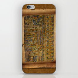 Ancient Egyptian Funerary Scroll pre 944 BC iPhone Skin