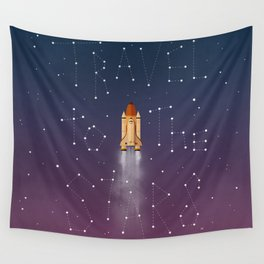 Travel to the Stars Wall Tapestry