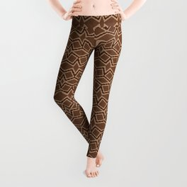 Brown Tilt-A-Block Leggings