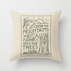 Over The Mountains Throw Pillow