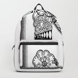 Zentangle N Monogram Alphabet Initials Backpack