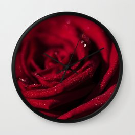 Fire - Red - Rose - Roses Flowers Wall Clock