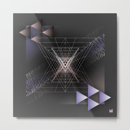 Abstract composition with shapes and colors 045 Metal Print