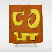 pumpkin Shower Curtains featuring Pumpkin by ItalianRicanArt