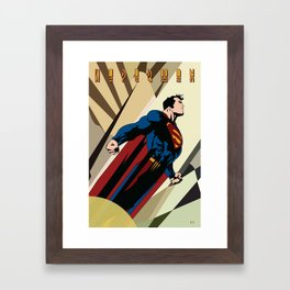 Art Deco Superman 2 Framed Art Print