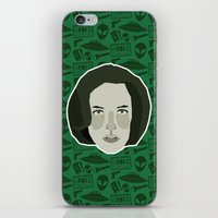 scully iPhone & iPod Skins featuring Dana Scully by Kuki