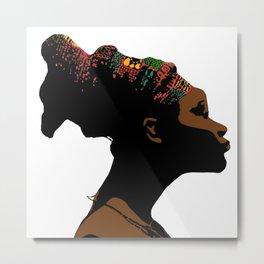 mangbetu woman Metal Print