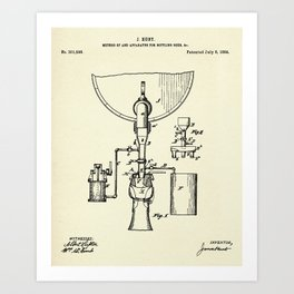 Method of and Apparatus for bottling beer-1884 Art Print