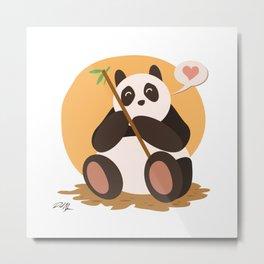 Kawaii Panda Metal Print