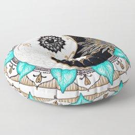 Yin and Yang Mandala Floor Pillow
