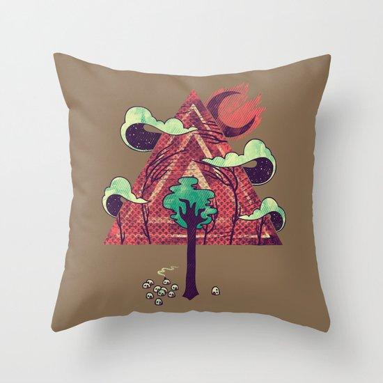 The Evergreen Throw Pillow