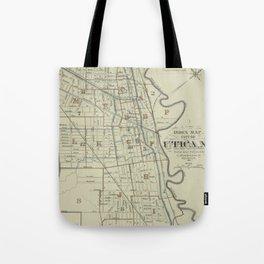 Vintage Map of Utica New York (1883) Tote Bag