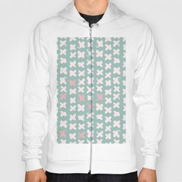 Contemporary X Paint Cross stich Mint Pink Pattern Hoody