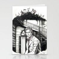 les miserables Stationery Cards featuring Les Miserables Portrait Series - Marius by Flávia Marques