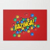 bazinga Canvas Prints featuring Bazinga! by Skeleton Jack