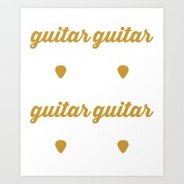 Playing the Guitar Is Like Telling The Truth (2) Art Print