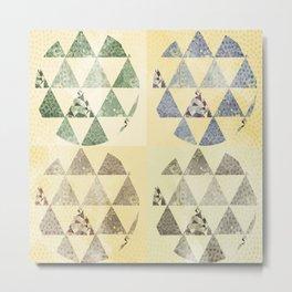 Round Triangle Metal Print