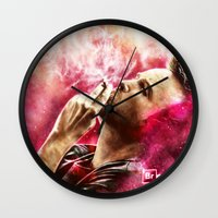 jesse pinkman Wall Clocks featuring Breaking Bad - Jesse Pinkman by p1xer