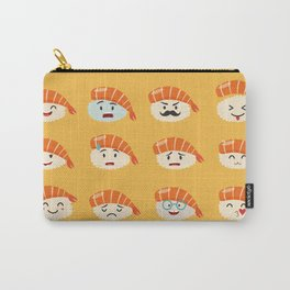 Sashimi emoji vector set. Emoji sushi with faces icons Carry-All Pouch