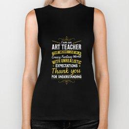 Fantasy World Art Teacher Tshirt School Teacher Painting Biker Tank