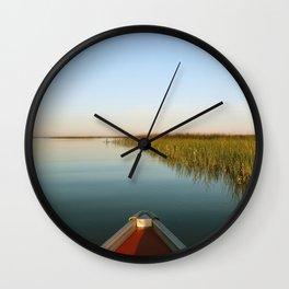 Sunrise Canoe #1 Wall Clock