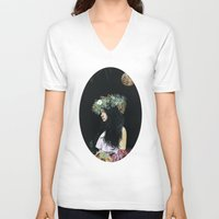 serenity V-neck T-shirts featuring Serenity by Melissa Hartley
