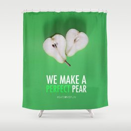 We Make a Perfect Pear Shower Curtain