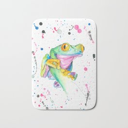 Frog - Watercolor Painting Bath Mat