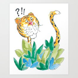 Spots, your tail is up! Art Print