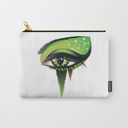 Green vampire eye makeup Carry-All Pouch