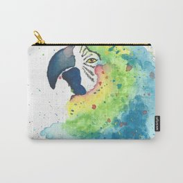 Watercolor Parrot Carry-All Pouch