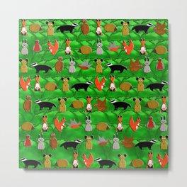 Woodland Animals Metal Print