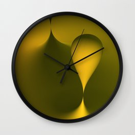 the color yellow Wall Clock