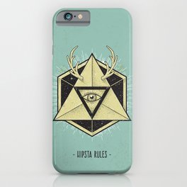 Hipsta Rules iPhone Case