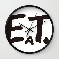 eat Wall Clocks featuring EAT by Masahisa  Saito